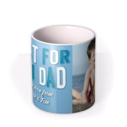 Mugs - Dad Birthday Blue Photo Upload Mug - Image 3