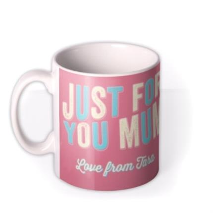 Mugs - Mum Birthday Pink Photo Upload Mug - Image 1