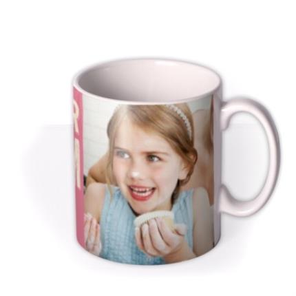 Mugs - Mum Birthday Pink Photo Upload Mug - Image 2