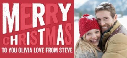 Mugs - Christmas Large Text Photo Upload Mug - Image 4