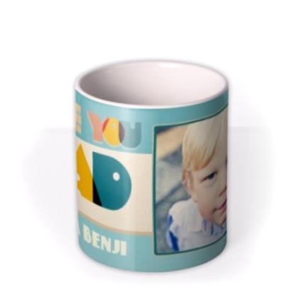Mugs - Bright Retro Letters Love You Dad Custom Mug - Image 3