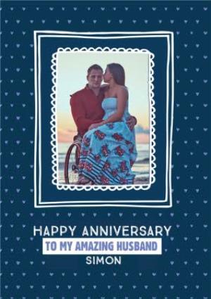 Greeting Cards - Anniversary Card - Husband - Photo Upload - Image 1