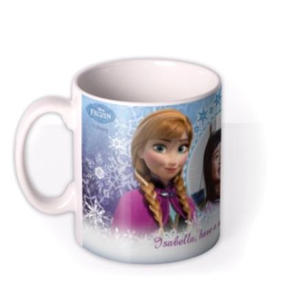 Mugs - Happy Birthday Disney Frozen Elsa & Anna Photo Upload Mug - Image 1
