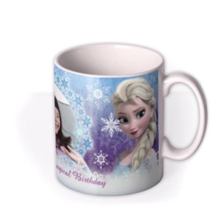 Mugs - Happy Birthday Disney Frozen Elsa & Anna Photo Upload Mug - Image 2