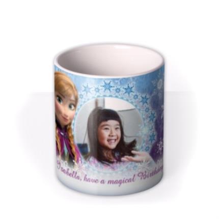 Mugs - Happy Birthday Disney Frozen Elsa & Anna Photo Upload Mug - Image 3