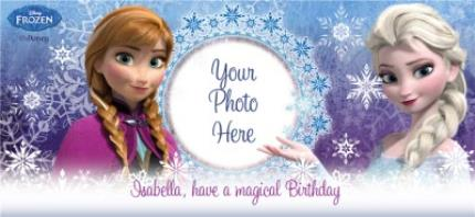 Mugs - Happy Birthday Disney Frozen Elsa & Anna Photo Upload Mug - Image 4