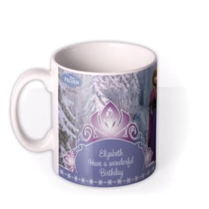 Mugs - Happy Birthday Disney Frozen Characters Personalised Mug - Image 1