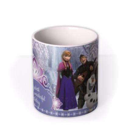 Mugs - Happy Birthday Disney Frozen Characters Personalised Mug - Image 3