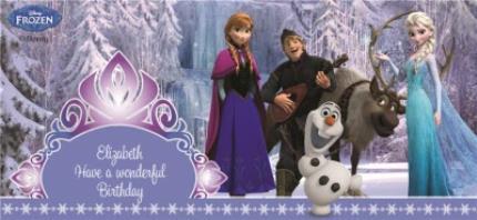 Mugs - Happy Birthday Disney Frozen Characters Personalised Mug - Image 4