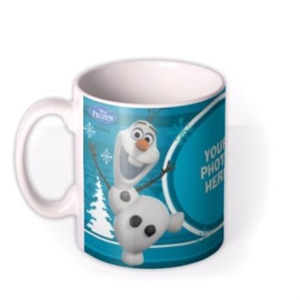 Mugs - Merry Christmas Disney Frozen Olaf & Sven Photo Upload Mug - Image 1