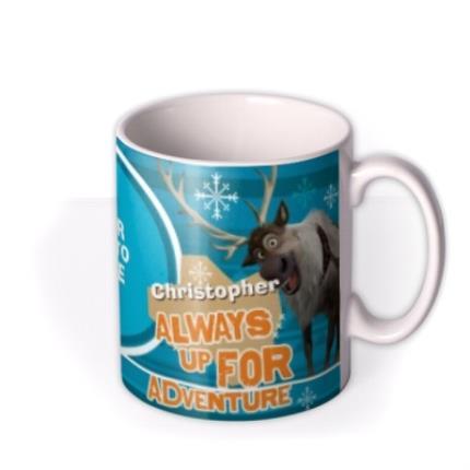 Mugs - Merry Christmas Disney Frozen Olaf & Sven Photo Upload Mug - Image 2