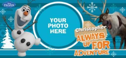 Mugs - Merry Christmas Disney Frozen Olaf & Sven Photo Upload Mug - Image 4