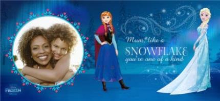 Mugs - Disney Frozen Snowflake Photo Upload Mug - Image 4