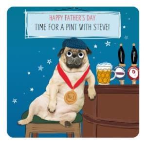 Greeting Cards - Its Time For A Pint Personalised Fathers Day Card - Image 1