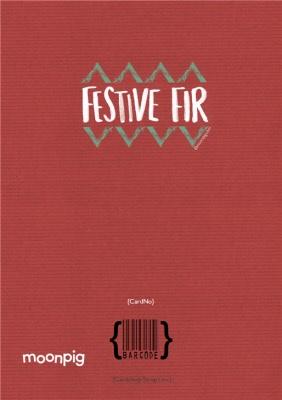 Greeting Cards - Festive Fir Photo Upload Christmas Card - Image 4