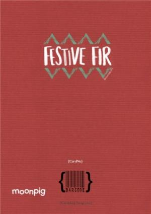 Greeting Cards - Festive Fir Photo Upload Christmas Card - Image 4