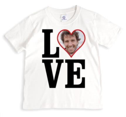 T-Shirts - LOVE Red Heart Photo Upload T-Shirt - Image 1