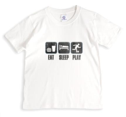 T-Shirts - Football Eat Sleep Play T-shirt - Image 1