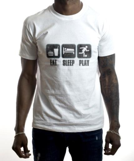 T-Shirts - Football Eat Sleep Play T-shirt - Image 2