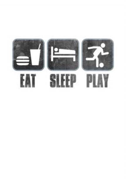 T-Shirts - Football Eat Sleep Play T-shirt - Image 4