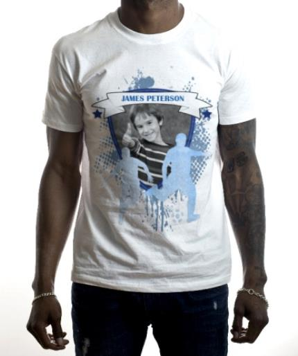 T-Shirts - Football Top Player Photo Upload T-shirt - Image 2