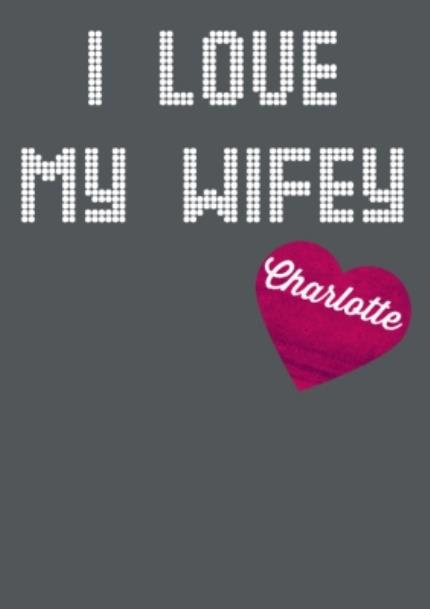 T-Shirts - I Love My Wifey Block Text Personalised T-Shirt - Image 4