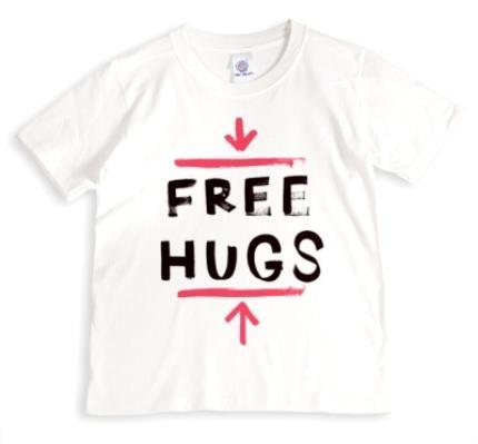 T-Shirts - Free Hugs Red Personalised T-shirt - Image 1