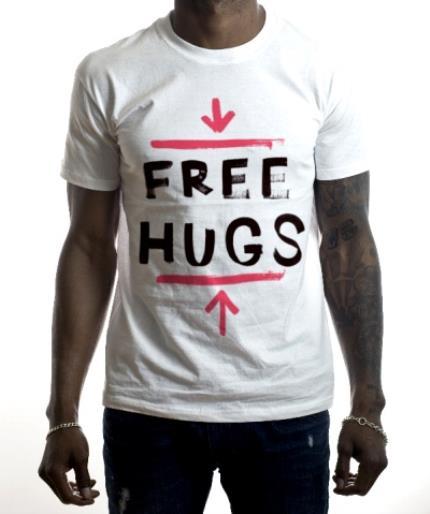 T-Shirts - Free Hugs Red Personalised T-shirt - Image 2