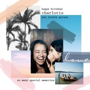 Greeting Cards - Birthday Card - Graphic Patterns - Photo Upload - Image 1
