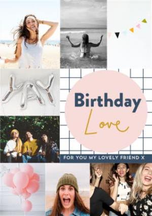 Greeting Cards - Birthday Love for my friend -  Multi photo upload card  - Image 1