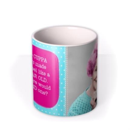 Mugs - Bright Polka Dot Personalised Text Photo Upload Mug - Image 3
