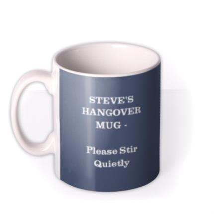 Mugs - Indigo Blue Personalised Text Photo Upload Mug - Image 1