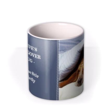 Mugs - Indigo Blue Personalised Text Photo Upload Mug - Image 3