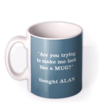 Mugs - Blue Jean Personalised Text Photo Upload Mug - Image 1