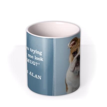 Mugs - Blue Jean Personalised Text Photo Upload Mug - Image 3