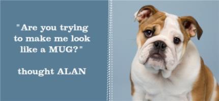 Mugs - Blue Jean Personalised Text Photo Upload Mug - Image 4