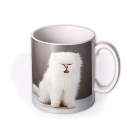Mugs - Grey Polka Dot Personalised Text Photo Upload Mug - Image 2
