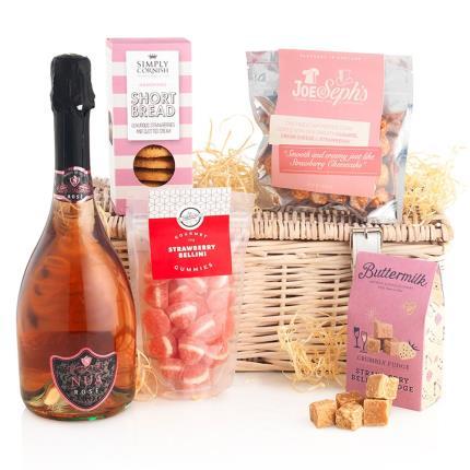 Food Gifts - Pink Fizz Treats Hamper - Image 1