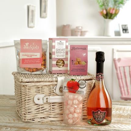 Food Gifts - Pink Fizz Treats Hamper - Image 2