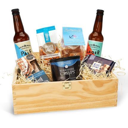 Food Gifts - Beer & Nibbles Crate Hamper - Image 1