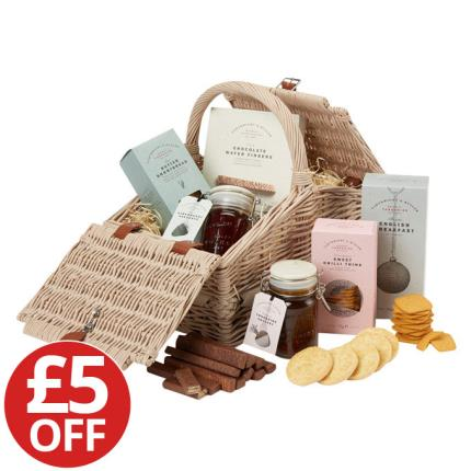 Food Gifts - Large Sledmere Wicker Hamper WAS £45 NOW £40 - Image 1