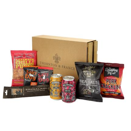 Food Gifts - Beer & Snacks Crate Hamper - Image 3