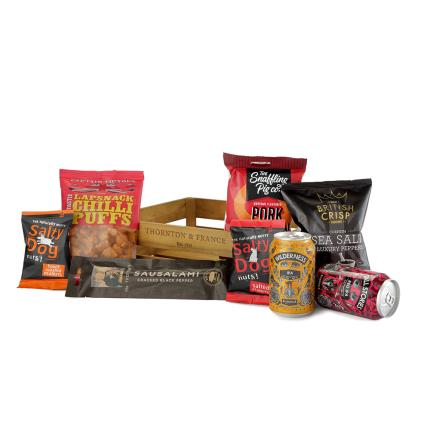 Food Gifts - Beer & Snacks Crate Hamper - Image 4