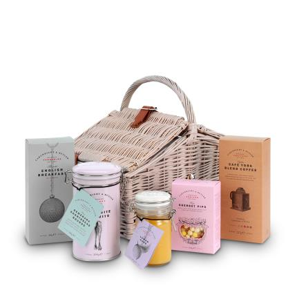 "Food Gifts - Cartwright & Butler 14"" Double Lidded Wicker Hamper - Image 2"