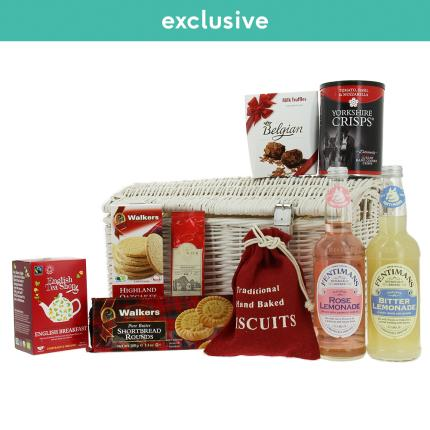 Food Gifts - Classic Medium Food Hamper in White Wicker - Image 2