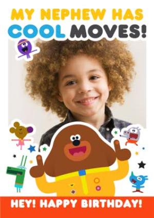 Greeting Cards - Hey Duggee Nephew birthday photo upload card - Image 1