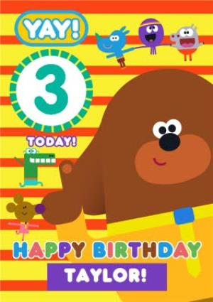 Greeting Cards - Hey Duggee Kids 3 today Birthday card - Image 1