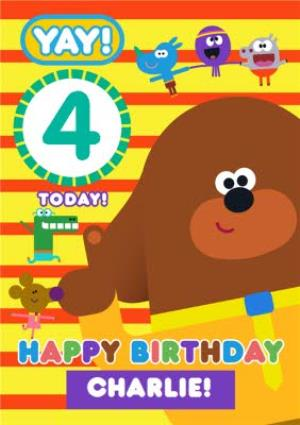 Greeting Cards - Hey Duggee Kids 4 today Birthday card - Image 1