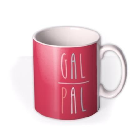 Mugs - Bright Red Gal Pal Custom Photo Upload Mug - Image 2