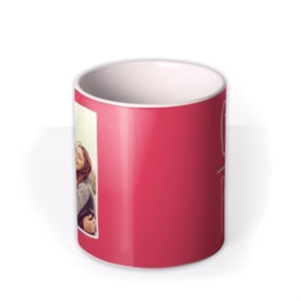 Mugs - Bright Red Gal Pal Custom Photo Upload Mug - Image 3